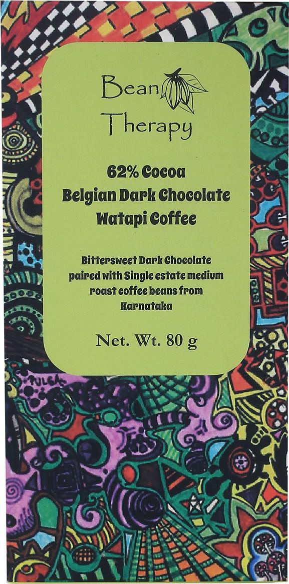 Bean Therapy Watapi Coffee Belgian Dark Chocolate Chocolate Bars