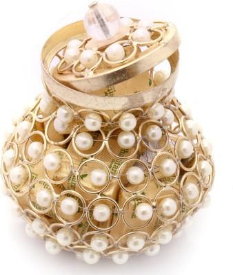 Ghasitaram Gifts Golden Pearl Basket Chocolate Bars