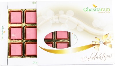 Ghasitaram Gifts Strawberry Flavoured Chocolate Bars(Pack of 12, 200 g)
