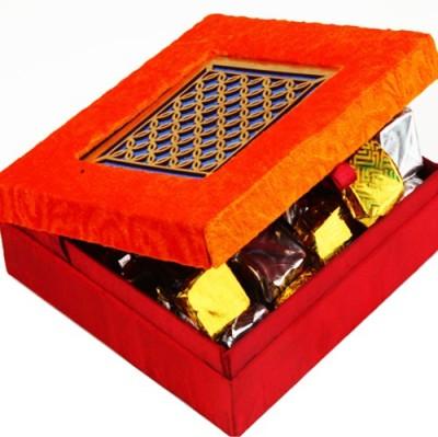 Ghasitaram Gifts Orange Laser Box Chocolate Bars
