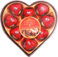 Skylofts 9pc Romantic Heart shaped Box with nicely wrapped eyes Chocolate Bars(Pack of 1, 110 g)