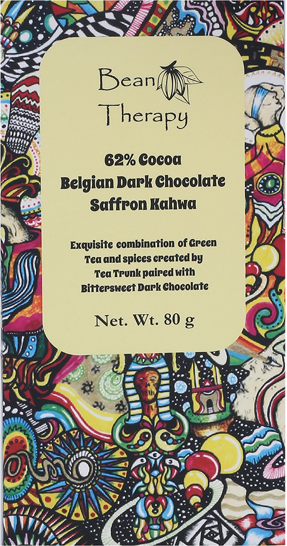 Bean Therapy Saffron Kahwa Green Tea Chocolate Bars