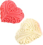 Ghasitaram Gifts Set of 2 Designer Heart...