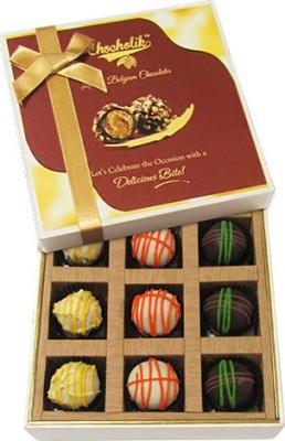 Chocholik 9pc Scrumptious White Collection Of Belgium Chocolate Truffles