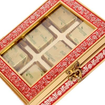 Ghasitaram Gifts Red Metal Box Chocolate Bars