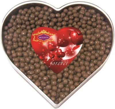 Skylofts Coated Raisins Heart Gift Box Chocolate Bars