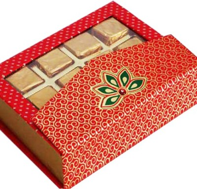 Ghasitaram Gifts Sugarfree Pink Designer Box Chocolate Bars