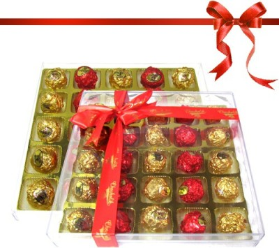 Chocholik Perfect Combination of Truffles With Gold & Red Colors Chocolate Truffles