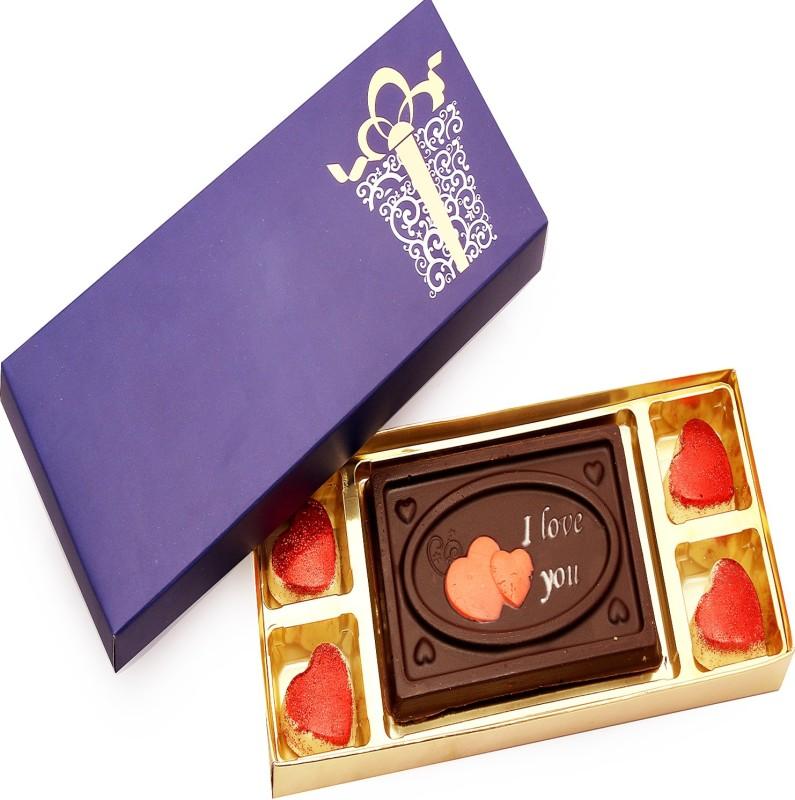 Ghasitaram Gifts Valentine Celebration Box Small Chocolate Bars(Pack of 5,...