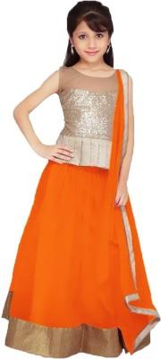 krishna creation Self Design NET Girl's Choli