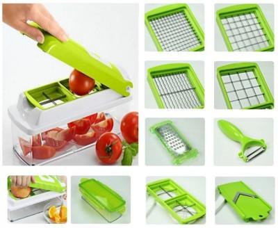jhondeal.com Multi Vegetable and Multi Fruit cutter Chopper(Green)