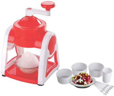 capital Manual Gola Maker with Slush Maker and Ice Crusher Chopper(Red, Pink)