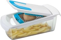 Patidar Polymers Fries Maker with 2 Diff Sized Blades Chopper(Blue, White)
