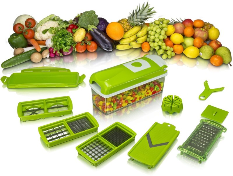 jhondeal.com Multi Vegetable Cutter and Fruit Slicer Chopper(Green)