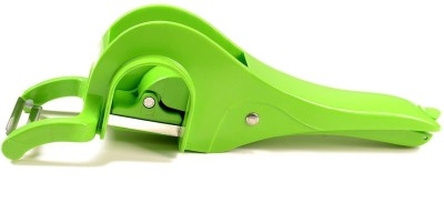 ADMI ABS Plastic 2 in 1 Multi Cutter And Peeler - Green Chopper(Green)