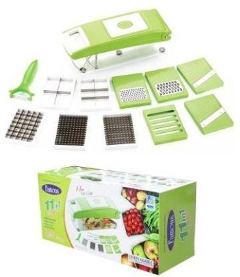 Jaykay's famous Vegitable And Fruit Cutter & Slicer Chopper(Green)