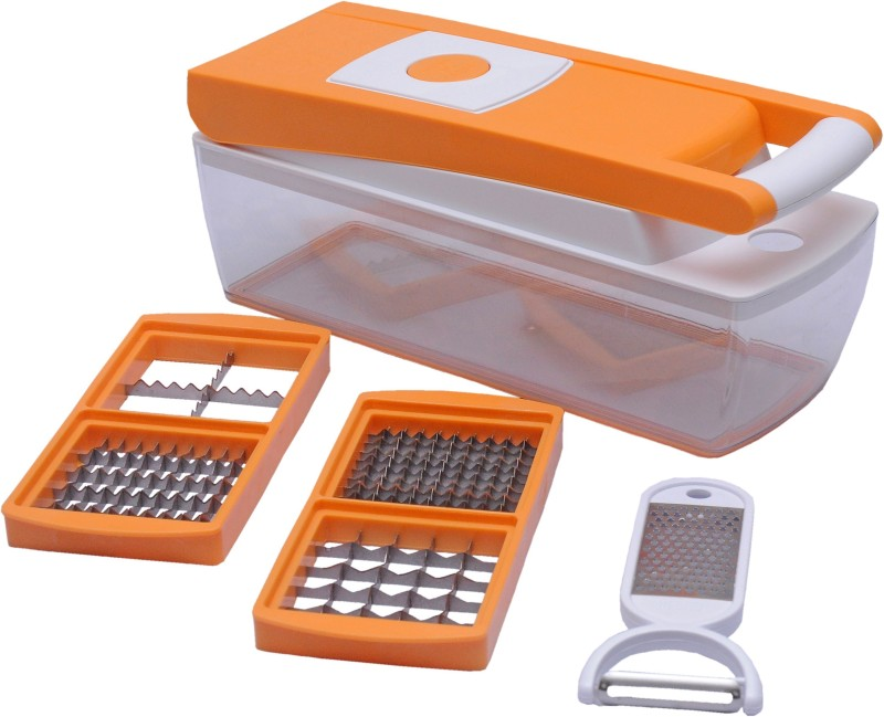 Ganesh 6 in 1 Vegetable Dicer Chopper(Orange)