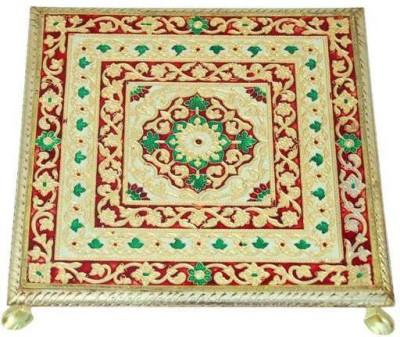 Bigshoponline Wooden All Purpose Chowki(Multicolor, Pack of 1)