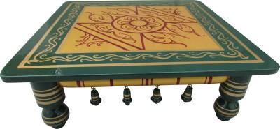 Hastakala Bazaar Wooden All Purpose Chowki(Multicolor, Pack of 1)