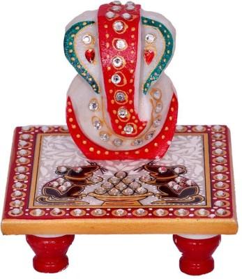 Anshul Fashion Meenakari Ganesh Rat Marble All Purpose Chowki Marble All Purpose Chowki