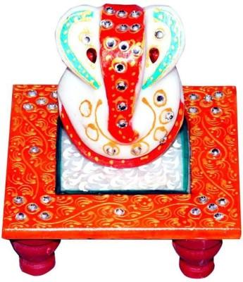 Agrasen International Meenakari Marble All Purpose Chowki