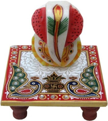 Chitra Handicraft Ganesh Marble All Purpose Chowki