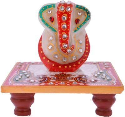 Sovam International Ganesh Marble All Purpose Chowki