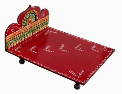 Art Of Krsna Wooden All Purpose Chowki(Multicolor, Pack of 1)