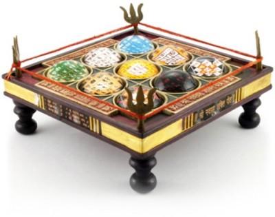 Navkaar Creation Shri Navgraha Shakti Brass All Purpose Chowki