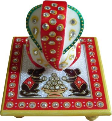 SB Kraft Ganesh Marble All Purpose Chowki