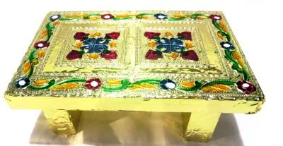 Sanshiv Wooden Pooja Chowki(Gold)