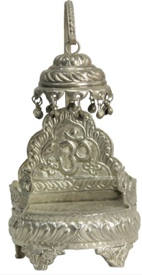 swadesibuyzzar Silver Plated Brass Singhasan for idols Brass Pooja Chowki(Silver)