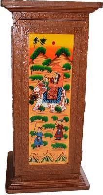 neha enterprises Wooden All Purpose Chowki(Brown)