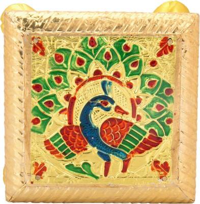 Combobazzar Peacock design Wooden Pooja Chowki