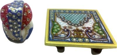 SportsHouse Ganesh Handicraft Marble Pooja Chowki