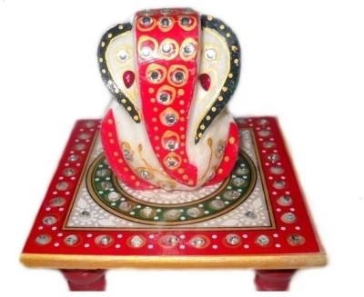 Crafts Paradise Circle Design Stoneware Pooja Chowki