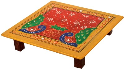 Shresth Lifestyles Red Wooden All Purpose Chowki