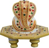 eCraftIndia Lord Ganesha on Round Golden...