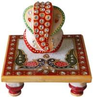 RajLaxmi Marble All Purpose Chowki(Multicolor, Pack of 1)
