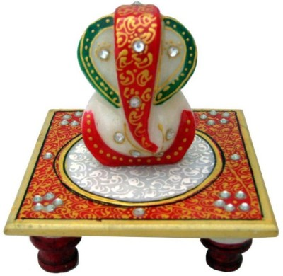 Ravishing Variety Ganesh with Chowki Marble Pooja Chowki