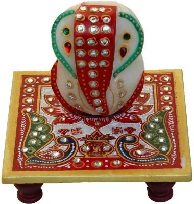 Crafticia Crafticia Marble Chowki Ganesh Marble All Purpose Chowki