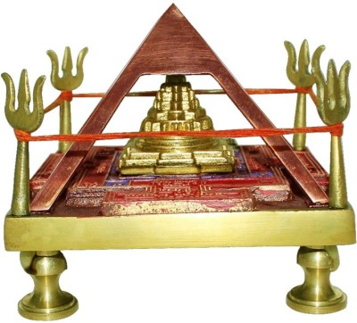 AM VAASITI Brass All Purpose Chowki(Multicolor, Pack of 1)