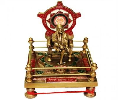 Vedic Vaani Shirdi Sai Yantra Brass Pooja Chowki
