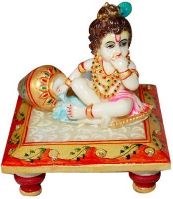 Jaipurikala Krishna Marble All Purpose Chowki