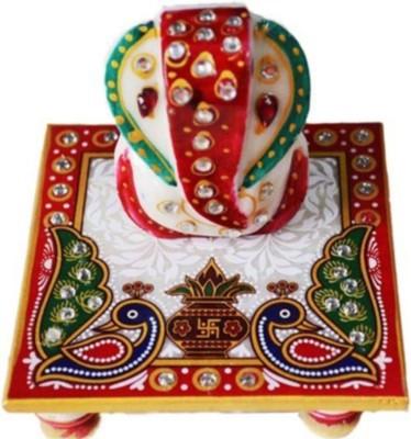 Sellstra Lord Ganesha Stoneware All Purpose Chowki