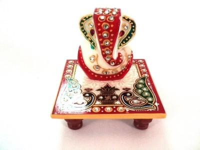 Ethnic Regalia Ganesh Idol Stoneware All Purpose Chowki