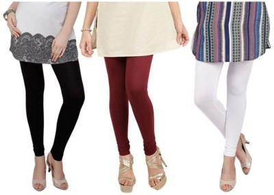 Lavish Women,s Black, Maroon, White Leggings