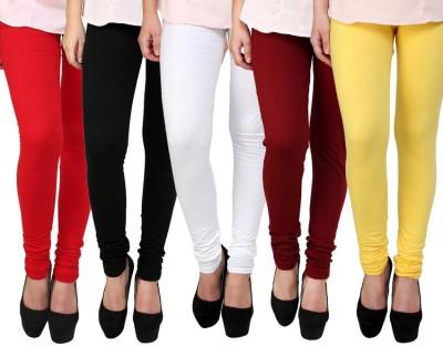 Lavish Women,s Red, Black, White, Maroon, Yellow Leggings