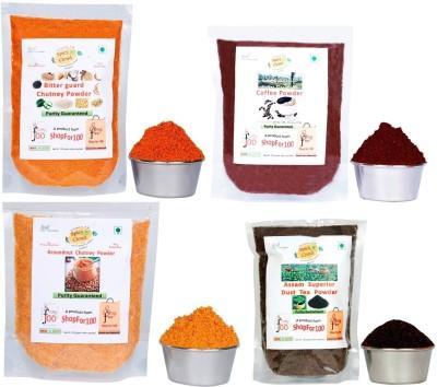 Dakshin's Spicy Cloud multipurpose combo pack (Powders: Bitter guard, Groundnut, Coffee, Tea) Chutney Powder