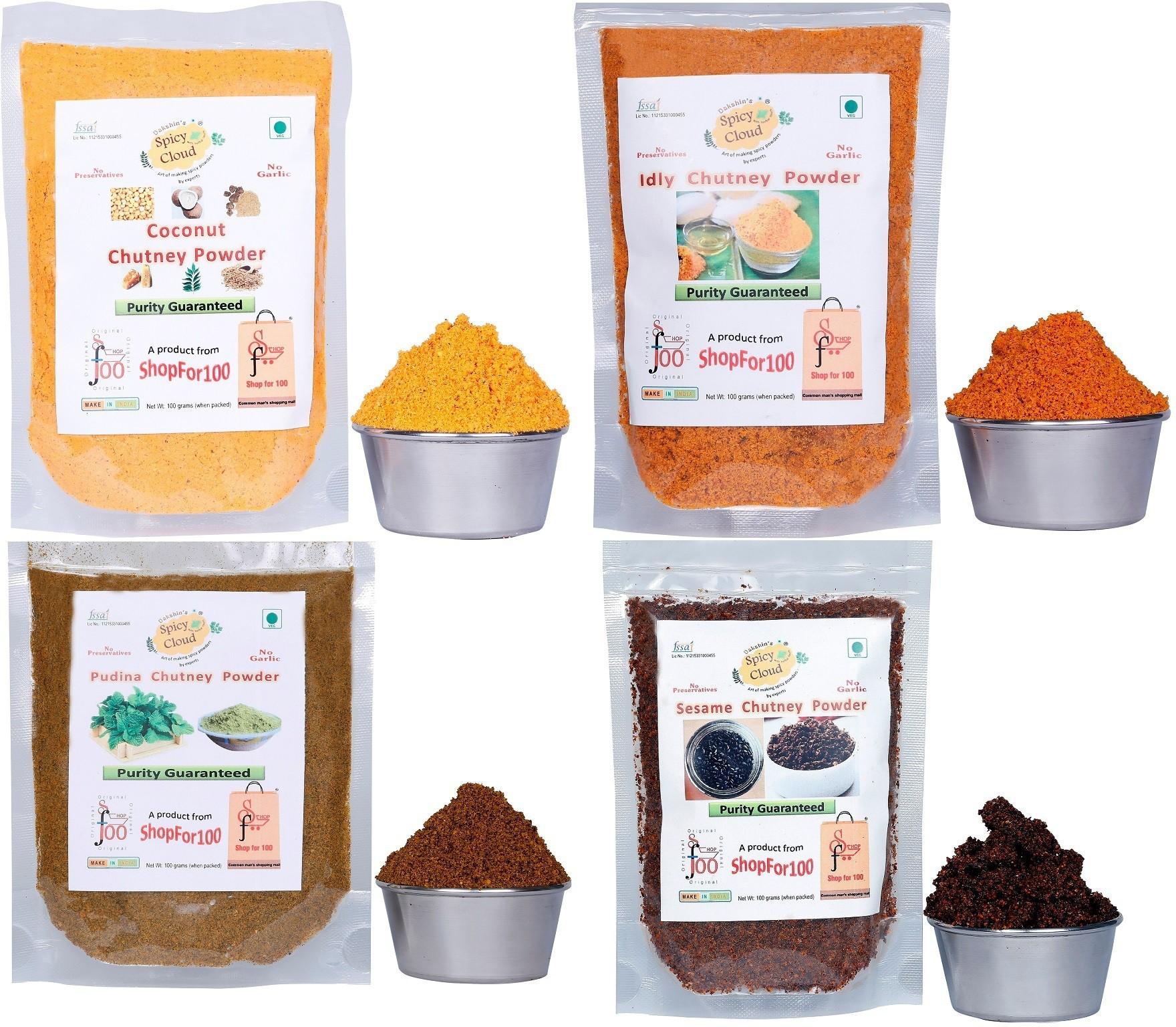 Dakshin's Spicy Cloud 4 powders Chutney Powder